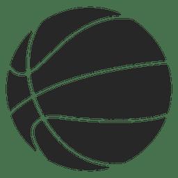 Silhueta de ícone de bola de basquete