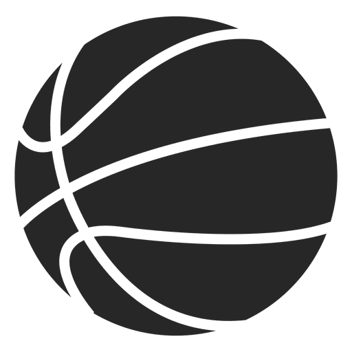 Basketball ball icon silhouette