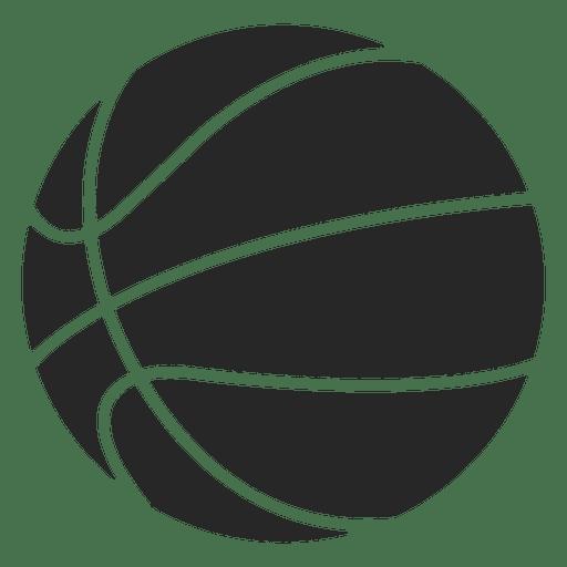 Silueta de icono de pelota de baloncesto
