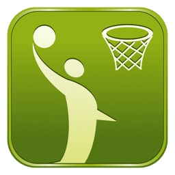 Basketball square icon