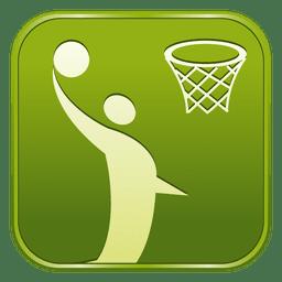 Ícone quadrado de basquete