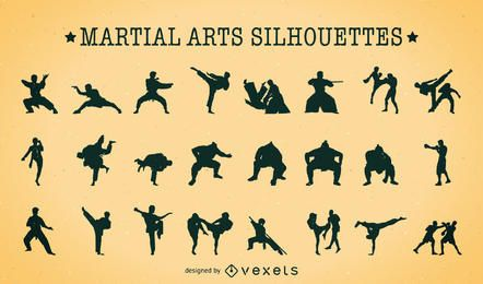 Martial Arts silhouettes pack