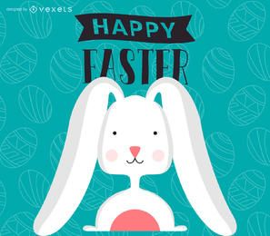 Flat Easter illustration and poster