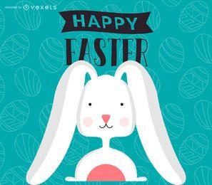 ilustración plana Pascua y cartel