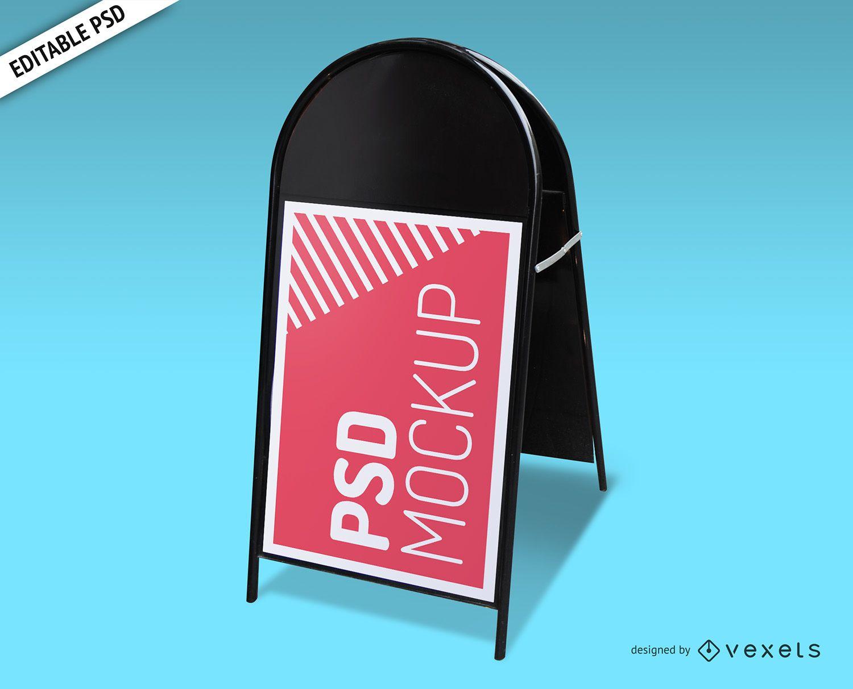 Maquete de PSD de placa dobrável