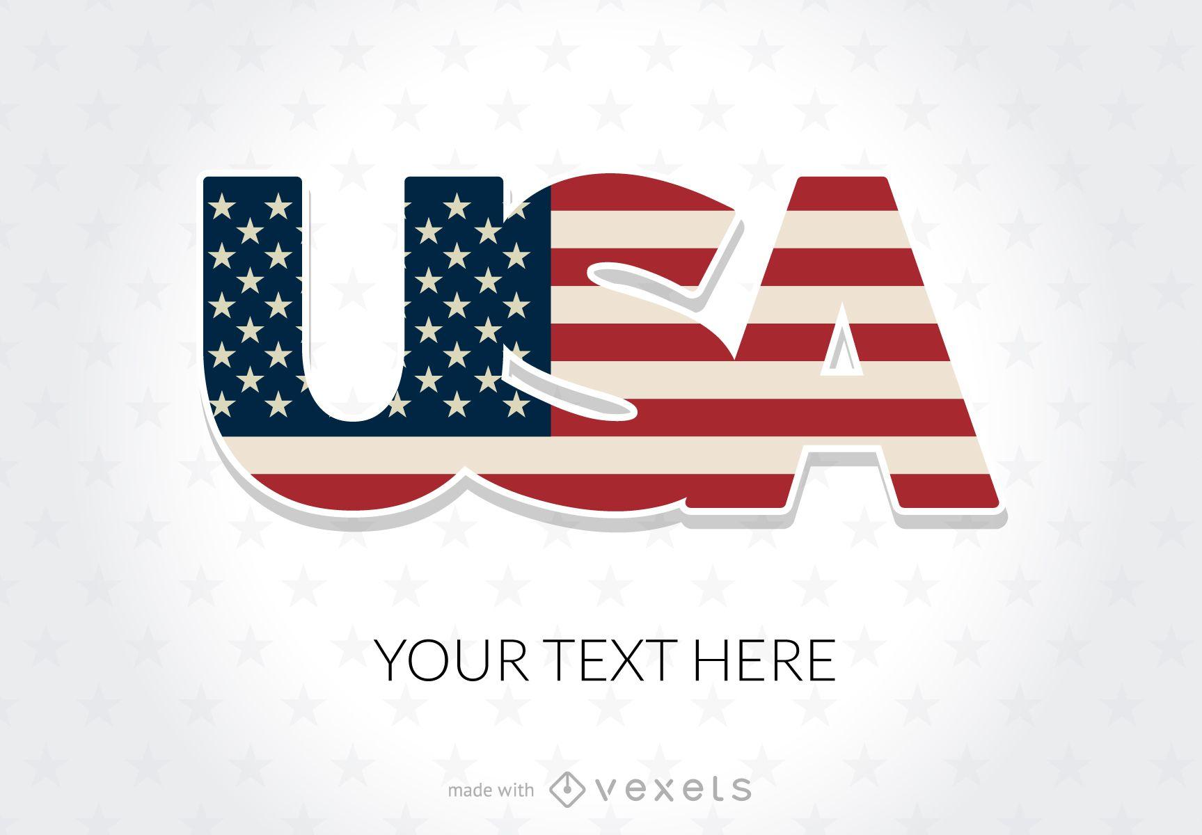 USA holidays poster maker