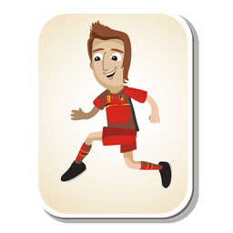 Desenhos animados de jogador de futebol de Bélgica