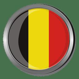 Belgium round flag