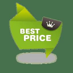 Mejor etiqueta de precio de origami