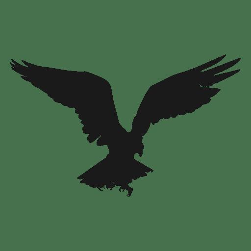 Adler Vogel fliegen Silhouette Transparent PNG