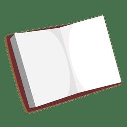 Blank open diary