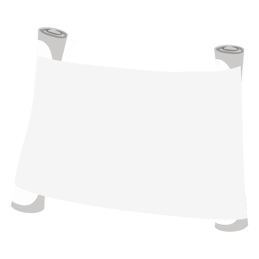 Blank scroll paper Transparent PNG