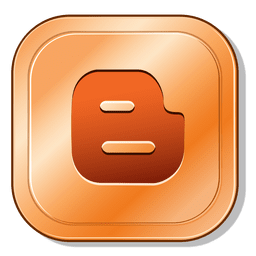 Blog metallic button