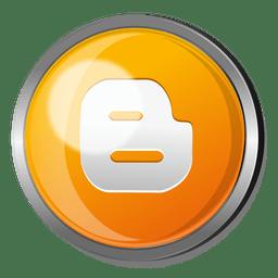 Botón redondo de metal para blogger.
