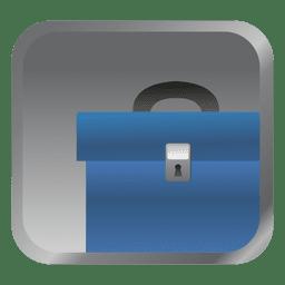 Blaue Aktentasche Quadrat Symbol
