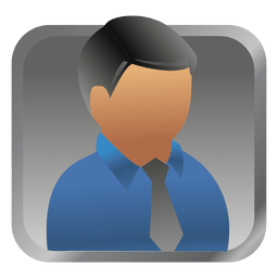 Blue businessman square avatar
