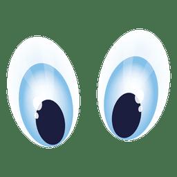 Blue cartoon eyes