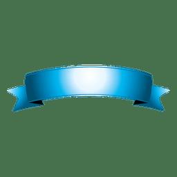 Blaues gebogenes Band 7