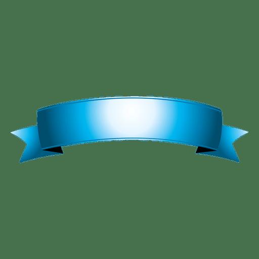 Blue curved ribbon 7 Transparent PNG
