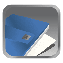 Blue file square icon