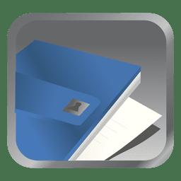 Ícone quadrado arquivo azul