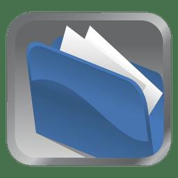 Carpeta azul icono cuadrado