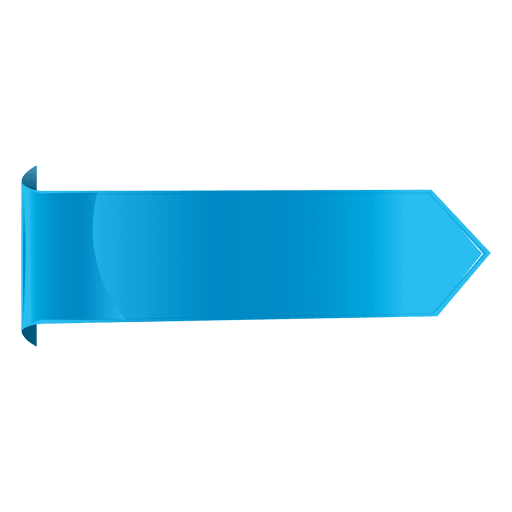Blue horizontal label