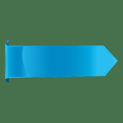 Etiqueta horizontal azul