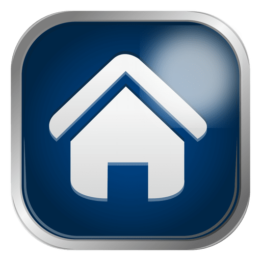 Blue house icon Transparent PNG