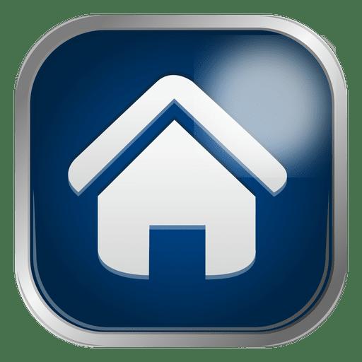 Ícone de casa azul