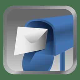 Ícone de caixa de mensagem azul