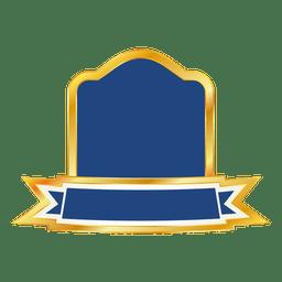 Blaues Band-Emblem