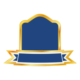 Blue ribbon emblem