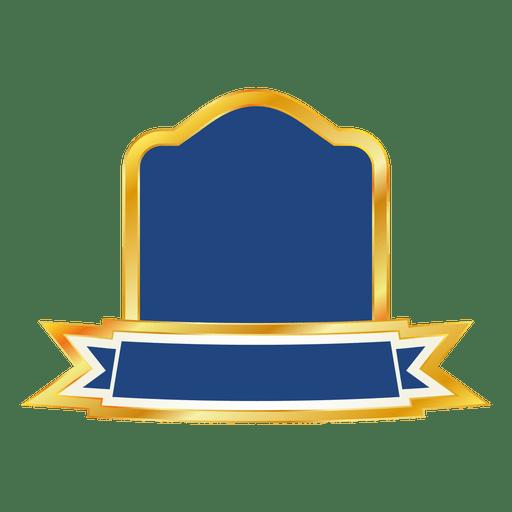 Blue ribbon emblem png
