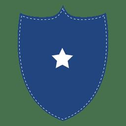 Distintivo de escudo azul