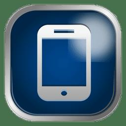 icono de teléfono inteligente Azul