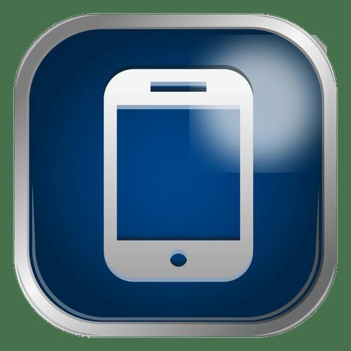 Blue smartphone icon - Transparent PNG & SVG vector file