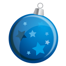 Blue stars bauble