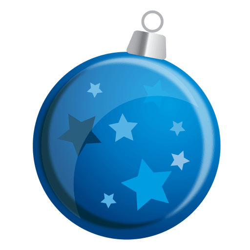 Blue stars bauble png