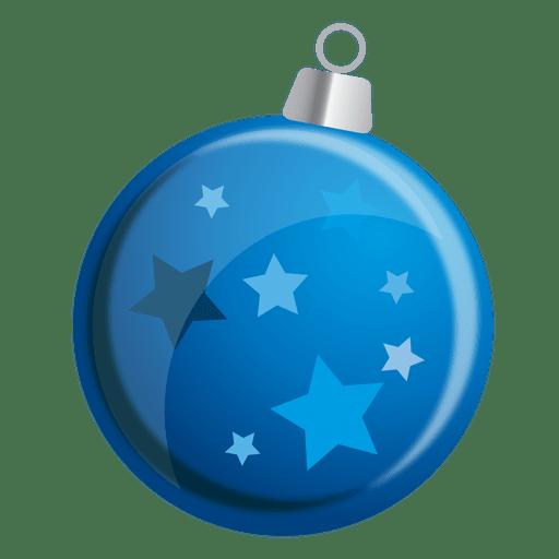 Blue stars bauble Transparent PNG