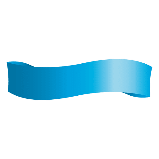 Blue wave ribbon Transparent PNG