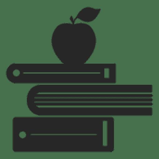 Bücher und Apfel Transparent PNG