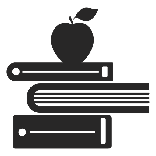 Books and apple Transparent PNG
