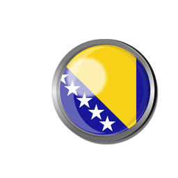 Bosnia flag badge
