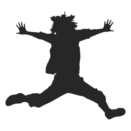Boy Jumping Silhouette 2 Transpa Png