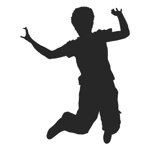 Boy Jumping Silhouette 3 Transpa Png