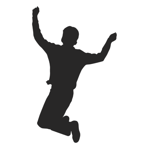 Boy Jumping Silhouette 5 Transpa Png