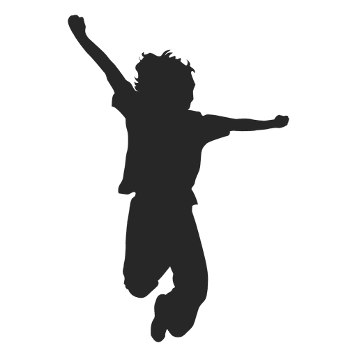 Boy Jumping Silhouette 6 Transpa Png