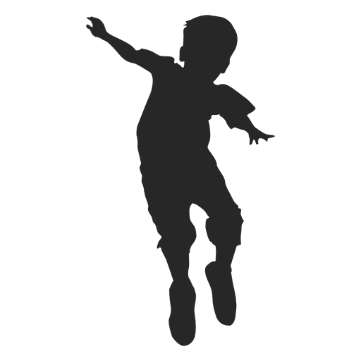 Boy Jumping Silhouette 7 Transpa Png