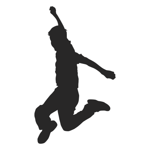 Boy Jumping Silhouette 8 Transpa Png